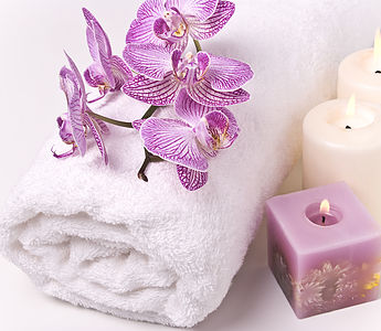 towel-flower-candle